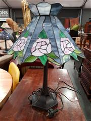 Sale 8680 - Lot 1096 - Leadlight Shade Table Lamp