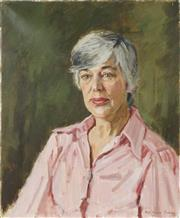 Sale 8767 - Lot 2056 - Rosalind Harvey Sutton - Portrait of a Woman 61 x 31cm