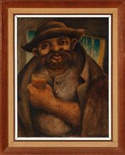 Sale 8855H - Lot 9 - Roderick Malcom Shaw, Portrait of a Man, acrylic on board, SLR and dated 1946, 44.5 x 33.5cm
