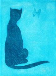 Sale 9013 - Lot 516 - Charles Blackman (1928 - 2019) - The Burmese Cat 59 x 44 cm (frame: 91 x 74 x 2 cm)