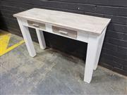 Sale 9034 - Lot 1056 - Rustic 2 Drawer Hall Table (h:77 x w:120cm)