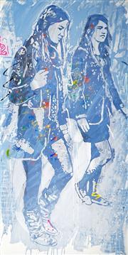 Sale 9042A - Lot 5033 - Nils Slotz - Citywalkers, 2012 200 x 100 cm