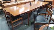 Sale 8409 - Lot 1049 - McIntosh Teak Table and Set of Six Chairs