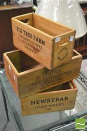 Sale 8392 - Lot 1025 - Collection of Four Produce Boxes
