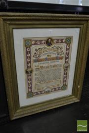 Sale 8500 - Lot 1025 - New South Wales Railways Illuminated Address, for John Scott Esquire, on leaving Picton Railway in 1888 for Wellington, with miniatu...