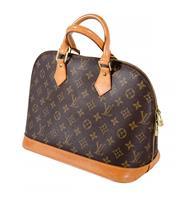 Sale 8522A - Lot 27 - A vintage French Louis Vuitton Alma handbag, 30 x 24 cm, some minor wear to leather handles.