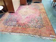 Sale 8593 - Lot 1054 - Red Tone Floor Rug (344 x 264cm)