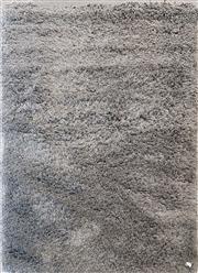 Sale 8676 - Lot 1157 - Modern Grey Shag Pile Rug (240 x 178cm)