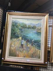 Sale 8702 - Lot 2034 - M Hill - That Golden Summer oil on canvas on board, 67 x 57cm (frame) signed lower right