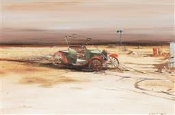 Sale 9161A - Lot 5046 - COLIN PARKER (1941 - ) Discarded Model T oil on board 39.5 x 59.5 cm (frame: 62 x 82 x 4 cm) signed lower right