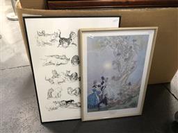 Sale 9147 - Lot 2069 - Pair of framed Norman Lindsay prints
