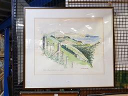 Sale 9155 - Lot 2091 - D.D McCormack  Titahi Bay, New Zealand, 1980, watercolour, frame: 65 x 72 cm, signed and dated lower right -