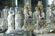 Sale 8360 - Lot 42 - English Pair of Porcelain Candlesticks with a Pair of French Water Carriers