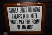 Sale 8419T - Lot 2057 - Hotel Sign