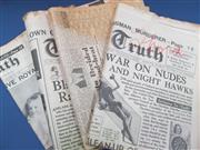 Sale 8419A - Lot 73 - Boxing Newspapers - a box of Boxing News and several complete copies of 1930s newspapers