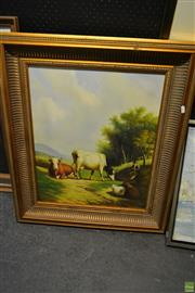 Sale 8578T - Lot 2080 - Artist Unknown, Man with Cattle, acrylic, SLR, 59.5x49.5cm