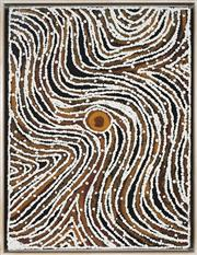 Sale 8866H - Lot 13 - Lloyd Kwilla (1980 - ) - Kulyayi Waterhole 80 x 60cm