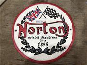 Sale 9006 - Lot 1039 - Cast Iron Norton Sign (D:21.5cm)