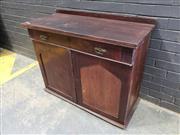 Sale 9034 - Lot 1081 - Flame Mahogany Credenza (h:87 x w:103cm)