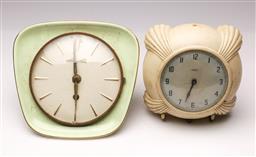 Sale 9114 - Lot 85 - Vintage Bakelite Metamec wall clock together with a 2 other vintage clocks