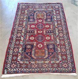 Sale 9154 - Lot 1024 - Red and cream tone Turkish rug (150 x 100cm)