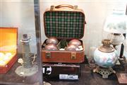 Sale 8324 - Lot 98 - Lawn Bowls Case & Bowls