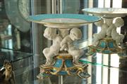 Sale 8360 - Lot 17 - Probably Georg Jones Porcelain Tazza with Putti, Marks to Base