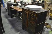 Sale 8361 - Lot 1055 - Pair of Oriental Vanity Cabinets
