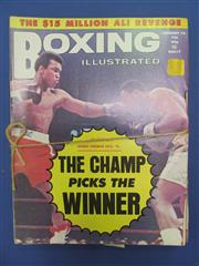 Sale 8419A - Lot 74 - Boxing Scrapbooks - two boxes of pasted pages, mostly boxing 1930s; t/w good examples of Boxing Illustrated with some 1970s Ali covers