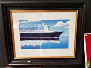 Sale 8478 - Lot 2024 - Andrew Davidson - Cunard, Queen Mary II 29 x 48cm