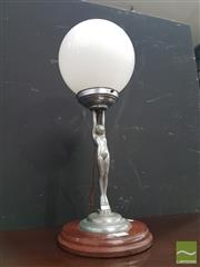 Sale 8554 - Lot 1015 - Art Deco Lady Lamp