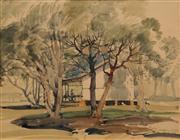 Sale 8624 - Lot 576 - Herbert Gallop (1890 - 1958) - Melaleuca Sketch, 1947 26 x 33.5cm