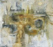 Sale 8781 - Lot 507 - Robert Hughes (1938 - 2012) - Suez Landscape II, 1960 58.5 x 68.5cm