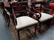 Sale 8834 - Lot 1013 - Set of 8 Georgian Style Mahogany Dining Chairs incl. 2 Carvers