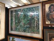 Sale 8856 - Lot 2076 - Artist Unknown Palm Forest pastel, 81 x 104cm (frame) signed -