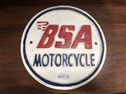 Sale 9006 - Lot 1025 - Cast Iron BSA Sign (D:19cm)
