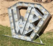 Sale 9066H - Lot 165 - A steel letters WB superhero light feature, plugs included