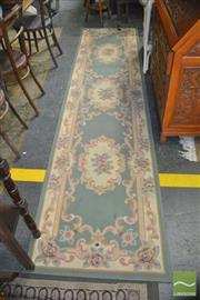 Sale 8412 - Lot 1096 - Green Tone Hall Runner (330 x 81cm)