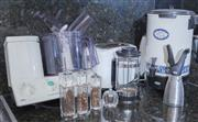 Sale 8593A - Lot 89 - Sundry kitchen appliances, including; kettle, toaster, Braun Combi Max  - food processor, and a Party Perk