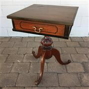 Sale 8607R - Lot 98 - Timber Single Drawer Side Table with Cabriole Legs (H: 71cm)