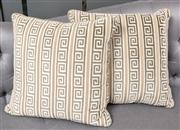Sale 8703A - Lot 40 - Two cushions with greek key pattern, 50cm2