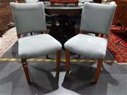 Sale 8760 - Lot 1031 - Set of Six Upholstered Dining Chairs