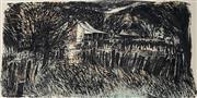Sale 9032A - Lot 5069 - Christopher Gentle (1939 - ) - Homestead 35 x 68 cm (sheet: 56 x 76 cm)