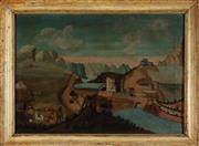 Sale 8994H - Lot 70 - 18th Century European school - Castle under siege 58 x 82cm
