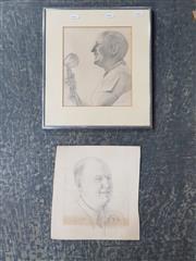 Sale 9041 - Lot 2069 - Pair of Reg Campbell Portraits -