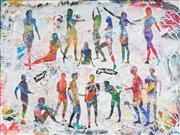 Sale 9042A - Lot 5022 - Nils Slotz - Meeting, 2014 80 x 60 cm (frame: 83 x 63 x 5 cm)
