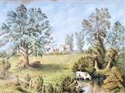 Sale 9058 - Lot 2012 - T H. Smith - Pastoral Scene frame: 53 x 62 cm