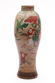 Sale 9070 - Lot 99 - A Chinese and Painted Crackle Glaze Vase (H 31cm)