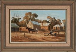 Sale 9155 - Lot 2013 - STUART MCKENZIE CULLEN (1933 - ) Morning Run, 1980 oil on canvas on board 22.5 x 39 cm (frame: 38 x 54 x 3 cm) signed lower right