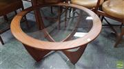 Sale 8409 - Lot 1060 - Round G-Plan Atmos Coffee Table with Glass Top
